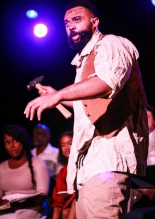 """UNDERGROUND"": Marcus Hopkins-Turner as Bali, a slave on the move."