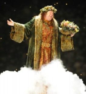 Bart Hansard as the Ghost of Christmas Present. Photo: Greg Mooney