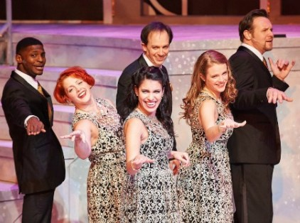 A recent cast (from left); Brian Walker, Jen MacQueen, Diany Rodriguez, Brandon O'Dell, Lyndsay Ricketson Brown and Travis Smith. MacQueen, Rodriguez, O'Dell and Brown return this year. Photo: Chris Bartelski