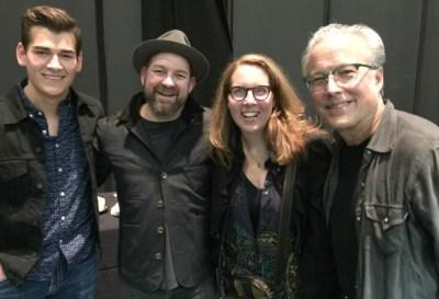 Actor Zach Seabaugh (from left), songwriter Kristian Bush, playwright Janece Shaffer and actor Radney Foster. Photo: Greg Mooney