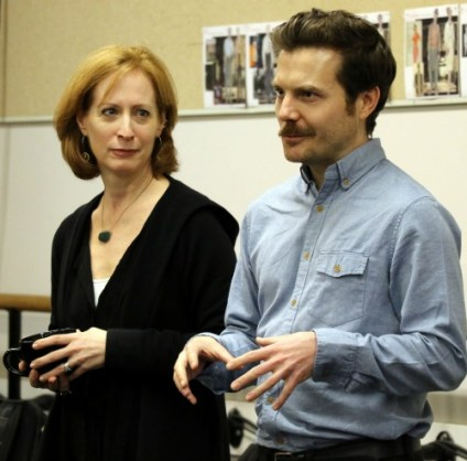 Playwright and director Jimmy Maize from New York's Tectonic Theater Project, with Alliance artistic director Susan V. Booth. Photo: A'riel Tinter