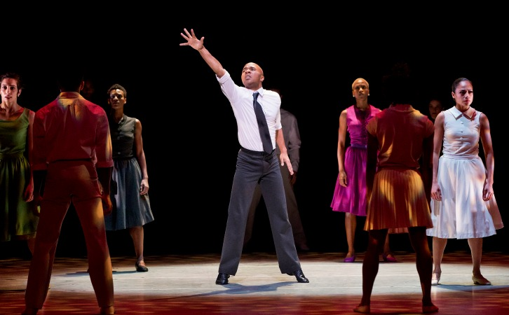 "Alvin Ailey American Dance Theater performs Hope Boykin's ""r-Evolution, Dream."" Photo: Paul Kolnik"