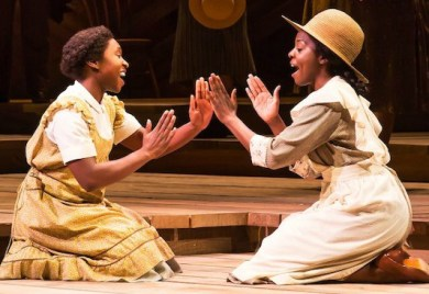 Celie and her sister, Nettie, manage a rare moment of child's play. Photo: Broadway in Atlanta