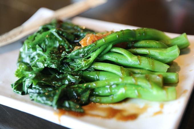 Chinese broccoli with oyster sauce is but one of many, many dishes you'll food on the Food Terminal's 50-page menu. Photo: David Danzig