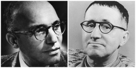 Uneasy partners: Kurt Weill (left) and Bertolt Brecht.