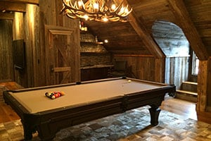 hall of game pool tables and shuffleboard rooms