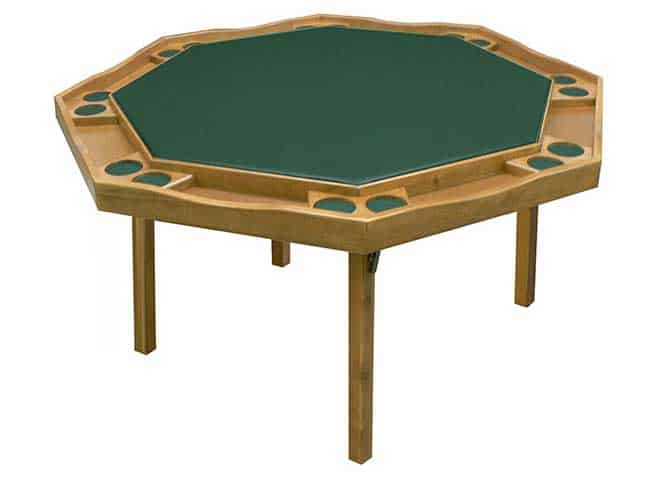 green card table with inlays