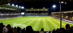 A panorama shot of the home of Burnley FC who were hosting (and losing to) Sheffield Wednesday in a League Cup 2nd round tie. © Copyright Graham Hogg and licensed for reuse under this Creative Commons Licence