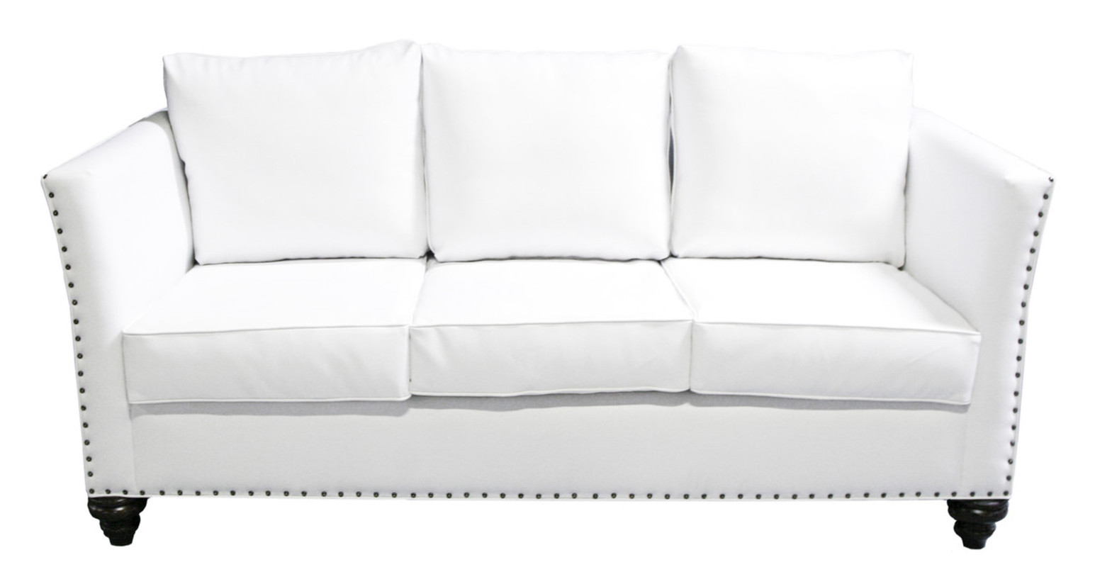 white leather sofa with nailheads keegan 28 images camden
