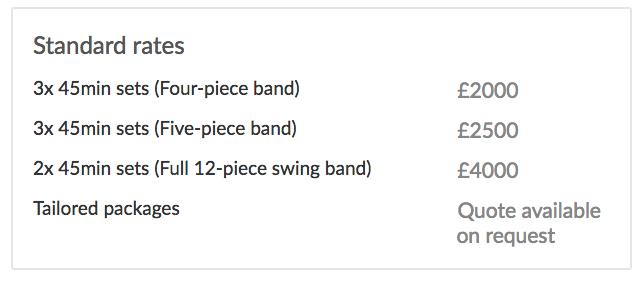 String Quartet Example Rates