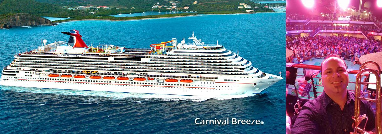 Anibal Hernandez aboard the Carnival Breeze