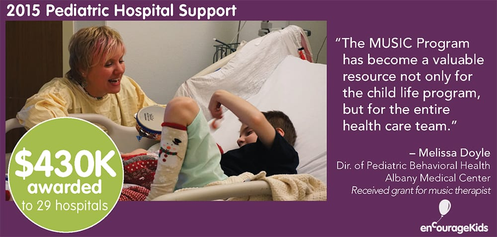 2015 enCourage Kids Pediatric Hospital Support Year in Review