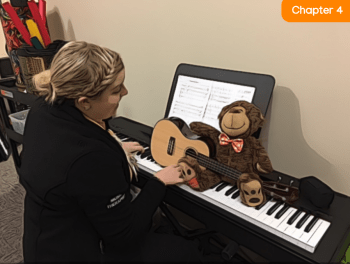 Teddy with Musician