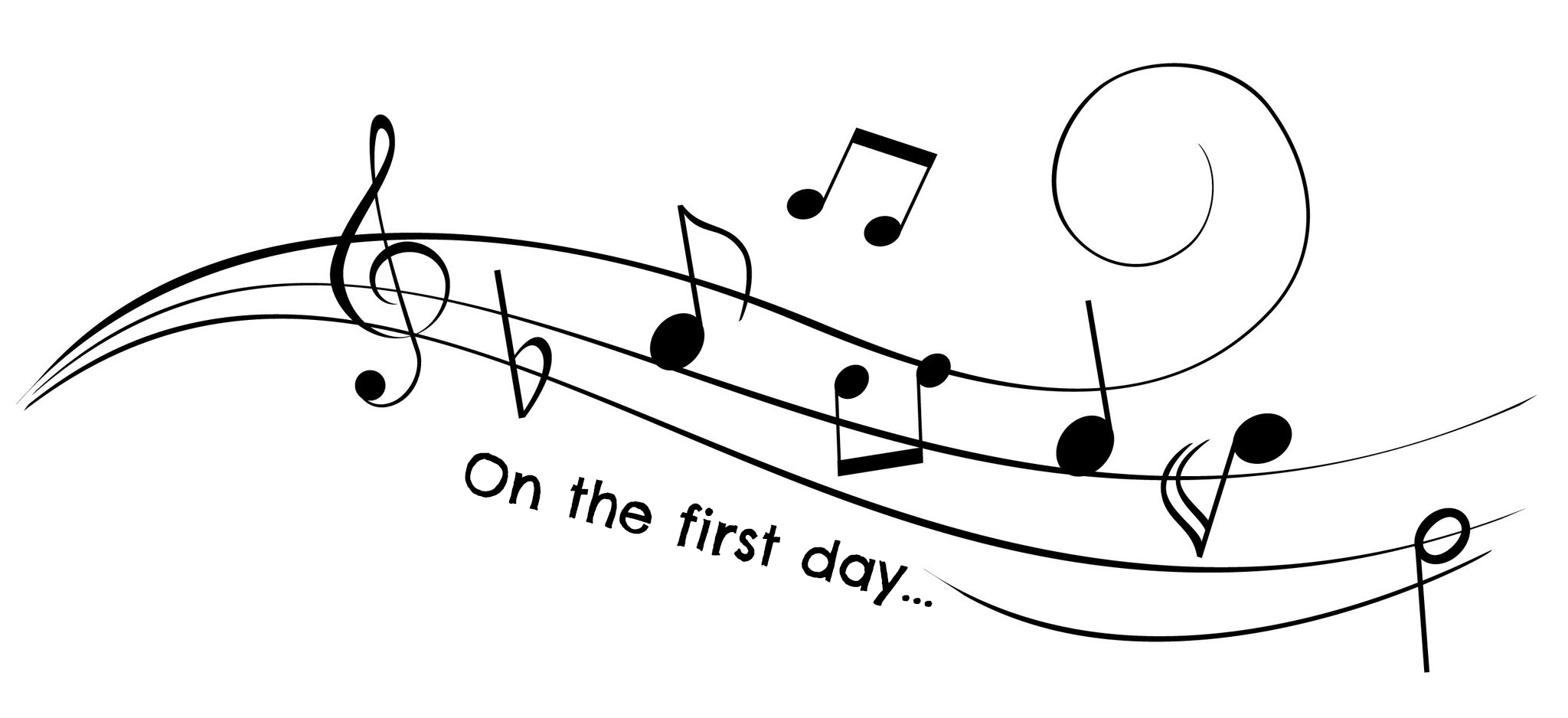 On The First Day Music Notes