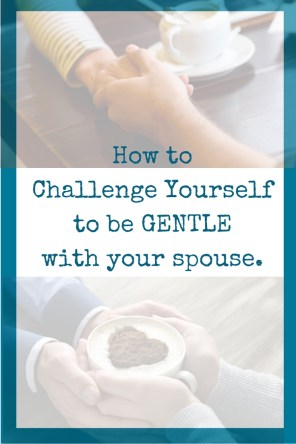 Challenge Yourself to be GENTLE with your spouse - here are 10 specific ways.