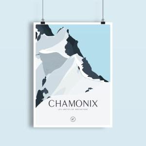 illustrations des aretes de rochefort dans le massif du mont blanc - chamonix