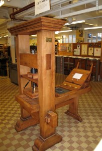 Presse à imprimer dite de Gutenberg