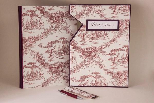 libro de firmas personalizado con caja de conservación