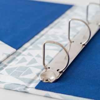 carpeta con anillas artesanal