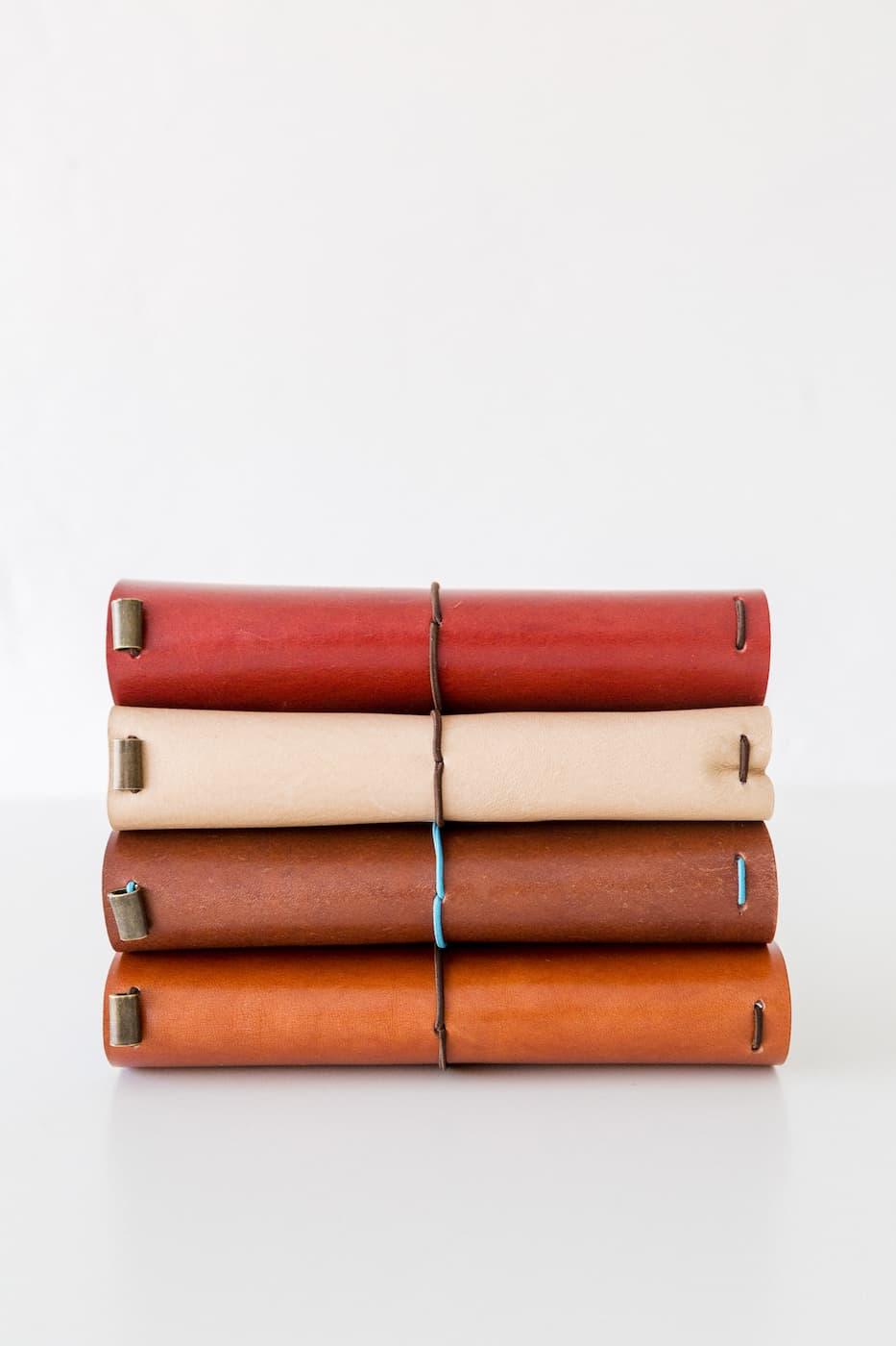 cuadernos midori artesanales en colores