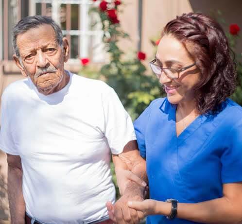 EnCasa Care patient and caregiver-2