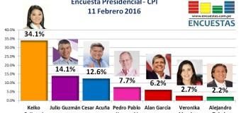 Encuesta Presidencial, CPI – 11 Febrero 2016