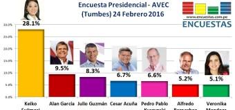 Encuesta Presidencial, AVEC – 24 Febrero 2016
