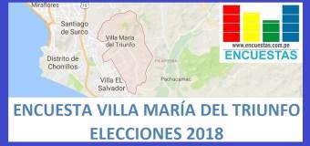 Encuesta Alcaldía de Villa María del Triunfo – 10.08.2017 – 12.01.2018