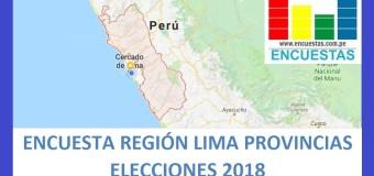 Encuesta Gobierno Regional de Lima Provincias – Setiembre 2018