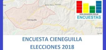 Encuesta Alcaldía de Cieneguilla, Setiembre 2018