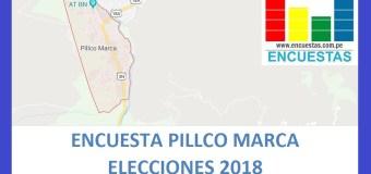 Encuesta Alcaldía de Pillco Marca, Huánuco – Junio 2018