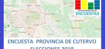 Encuesta Alcaldía Provincial de Cutervo – Setiembre 2018