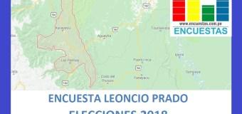 Encuesta Leoncio Prado, Huánuco – Julio 2018