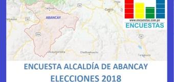 Encuesta Alcaldía de Abancay – Setiembre 2018