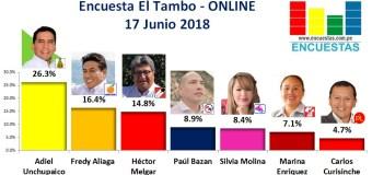 Encuesta El Tambo, Online – 17 Junio 2018