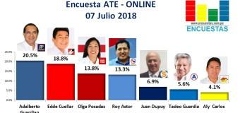 Encuesta Ate, Online – 07 Julio 2018