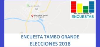 Encuesta Alcaldía de Tambo Grande – Agosto 2018
