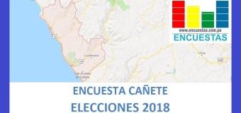 Encuesta Alcaldía de Cañete – Setiembre 2018