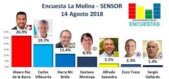 Encuesta La Molina, Sensor – 14 Agosto 2018