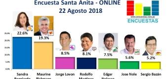 Encuesta Santa Anita, Online – 21 Agosto 2018