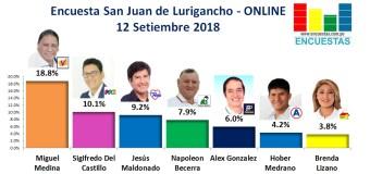 Encuesta San Juan de Lurigancho, Online – 12 Setiembre 2018