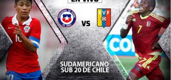 Sudamericano Sub-20: Chile vs Venezuela EN VIVO