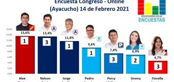Encuesta Congreso, Online (Ayacucho) – 14 Febrero 2021