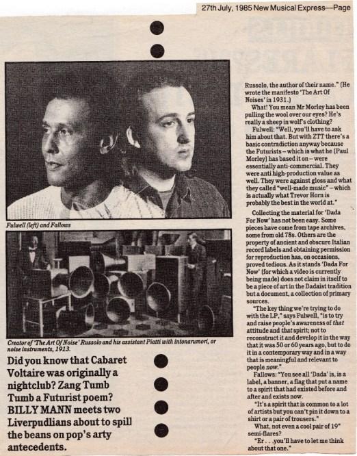 Dada NME 27.07.85-2