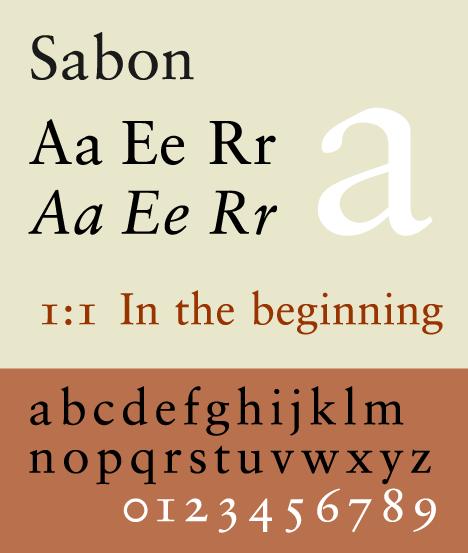 Sabon font image