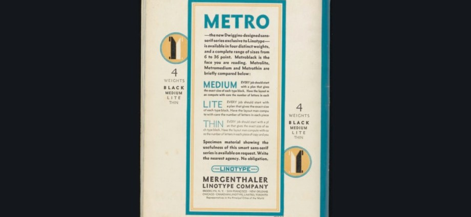 Williams Dwiggins Metro Font
