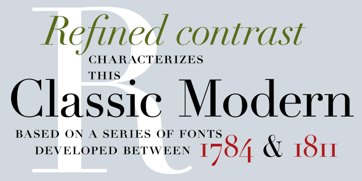 Example of uses of Linotype Didot