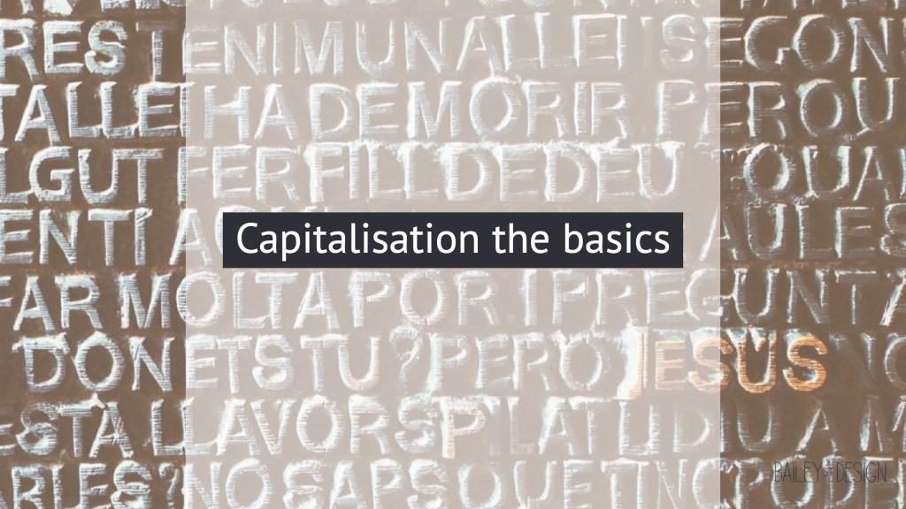capitalisation basics