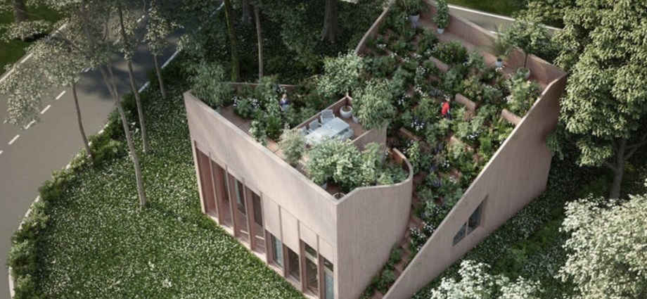 Gorgeous roof garden feeds owners in proposed off-grid Yin & Yang House