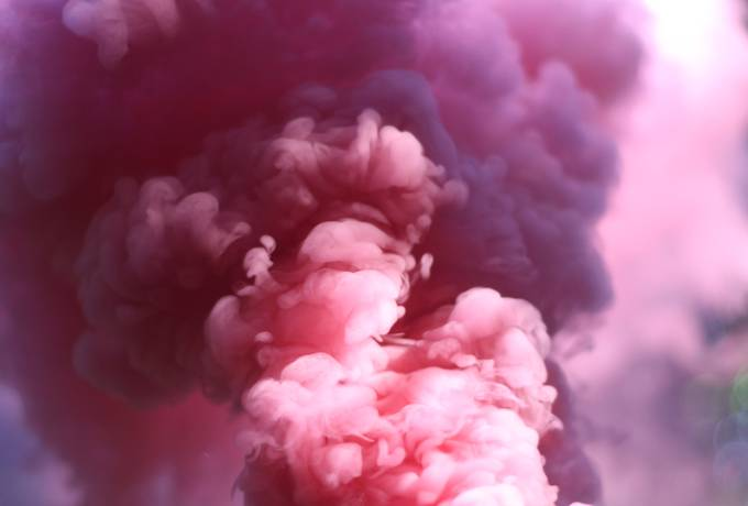 Abstract Pink Smoke